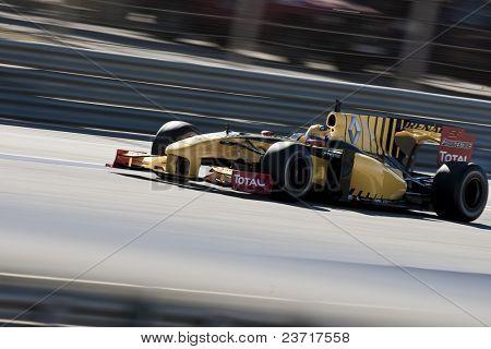 VALENCIA, SPAIN - FEBRUARY 1: F1 Test - Robert Kubica on February 1, 2010 in Cheste, Valencia, Spain