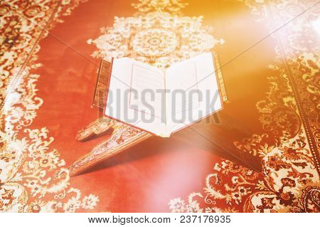 Light Beams Over Islamic Holy Book Quran