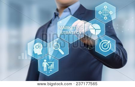 Marketing Strategy Business Advertising Plan Promotion Concept.