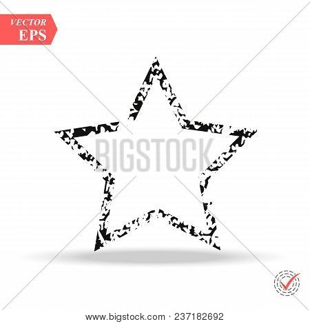 Grunge Line Star Background.vector Grunge Star.grunge Star Symbol. Eps