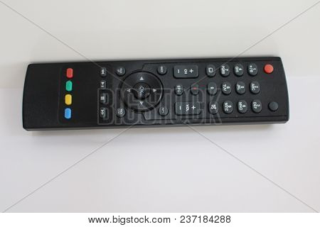 Remote Control. A Remote Control Isolated On White With Clipping Path. Digital Tv Remote Control.