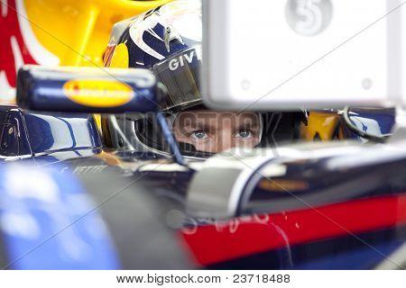 VALENCIA, SPAIN - JUNE 26: Formula 1 Valencia Street Circuit - Sebastian Vettel - June 26, 2010 in Valencia, Spain
