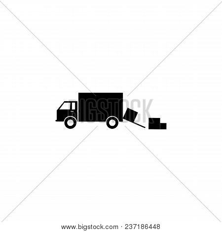 Unloading Of Cargo Boxes From The Car Icon. Element Of Logistics Icon. Premium Quality Graphic Desig