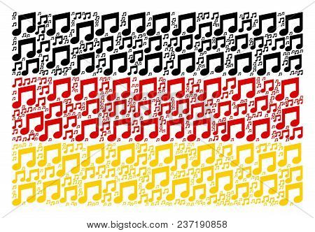 Germany Flag Concept Organized Of Music Notes Pictograms. Vector Music Notes Design Elements Are Com