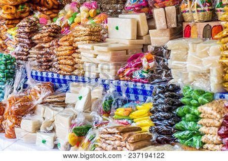 Traditional Guatemalan Candy Stall During Holy Week, Antigua, Guatemala