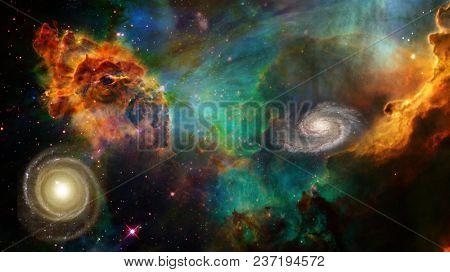 Deep Space Elements of this image furnished by NASA. 3D rendering