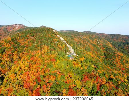 Autumn Of Seokbul Temple In Geumjeong Mountain, Busan , South Korea, Asia When Nov-10-2017