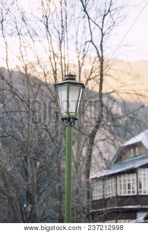 Old Lamppost In The Spa Town Of Dombay