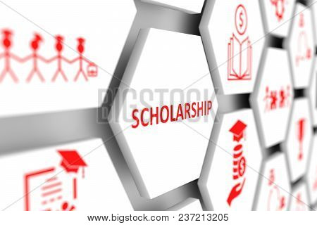 Scholarship Concept Cell Blurred Background 3d Illustration