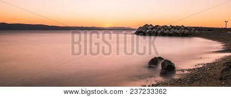 Croatian Sunset In Podgora, Makarska Riviera, Croatia