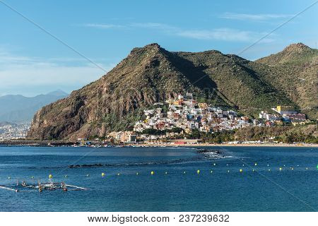 San Andres, Canary Islands, Spain - Desember 11, 2016: View Of The San Andres Town On The Slope Of T