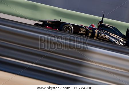 VALENCIA, SPAIN - FEBRUARY 2: F1 Winter Test - Kubica, Lotus Renault Team - on February 2, 2011 in Cheste, Valencia, Spain