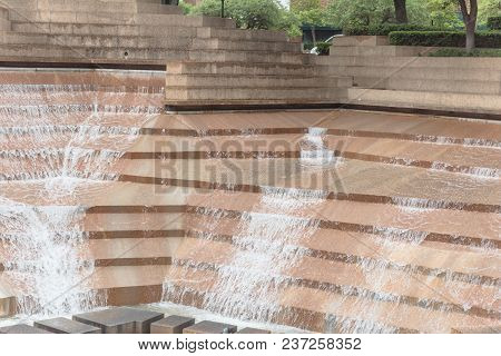 Public Water Gardens Park In Fort Worth, Texas, Usa