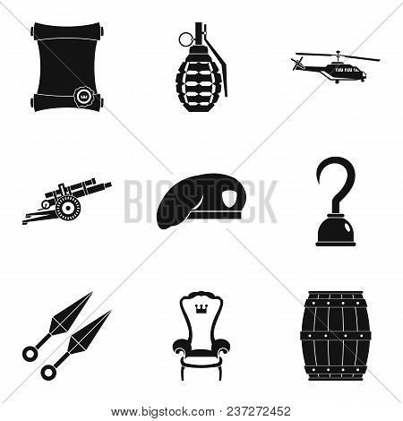 Weapon Tool Icons Set. Simple Set Of 9 Weapon Tool Vector Icons For Web Isolated On White Background