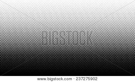 Gradient Halftone Pattern Vertical Vector Illustration. Black White Dots Halftone Texture. Pop Art B