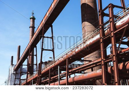 Pipes Of Coking Plant On The Grounds Of The Zeche Zollverein