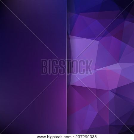 Abstract Polygonal Vector Background. Purple Geometric Vector Illustration. Creative Design Template