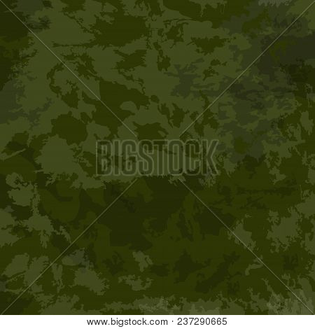 Khaki background. Green Texture, camouflage. Vector green camouflage pattern poster