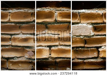 Old Brick Wall, Stone Background Or Rock Surface - Good For Web Site Or Mobile Devices.