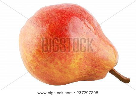 Isolated Fruits. One Sweet Pear Fruits Isolated On White Background With Clipping Path As Package De