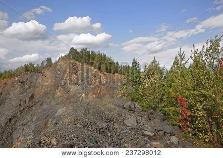 View Of The Quarry And The Old Mine From The Observation Platform Nizhny Tagil Sverdlovsk Region