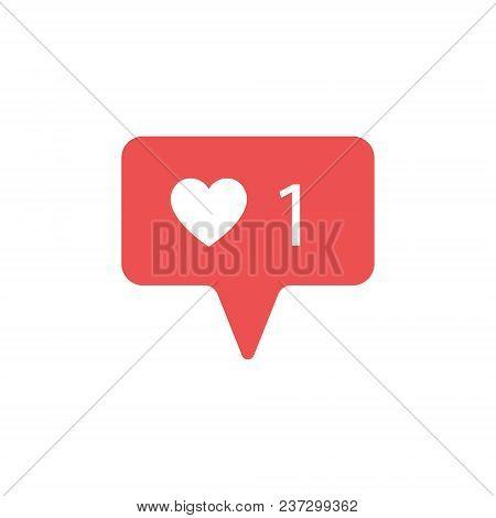 New Counter Notification Icon. Follower. New Icon Like 1 Symbol, Button. Social Media Like Insta Ui,