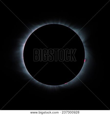 Solar Eclipse Corona During A Total Eclipse