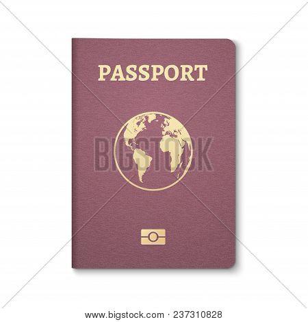 Passport Document Id. International Pass For Tourism Travel. Emigration Passport Citizen Id With Glo