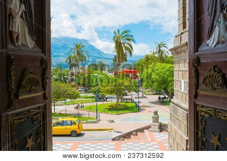 Otavalo April 2018 Calderon Park  In A Sunny Day Visited For Its Colonial Style.