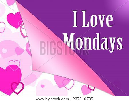 Positive Monday Quotes - Love The Day - 3D Illustration