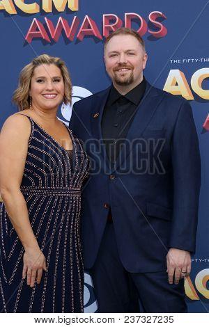 LAS VEGAS - APR 15:  Toni Osborne, Josh Osborne at the Academy of Country Music Awards 2018 at MGM Grand Garden Arena on April 15, 2018 in Las Vegas, NV
