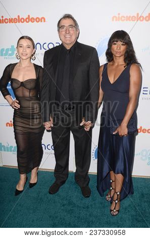 LOS ANGELES - APR 21:  Olesya Rulin, Kenny Prtega, Monique Coleman at the 9th Annual Thirst Gala on the Beverly Hilton Hotel on April 21, 2018 in Beverly Hills, CA