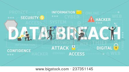 Data Breach Concept Illustration. Idea Of Hacking And Spying.