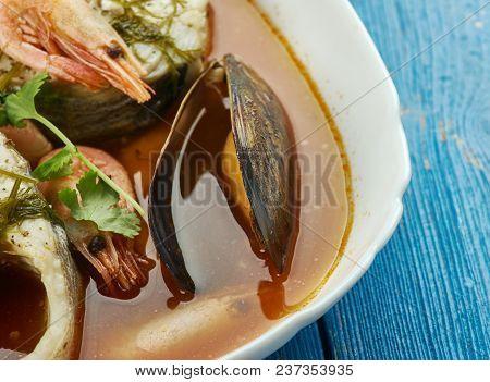 Suquet De Peix - French Fish Soup, Close Up , Close Up