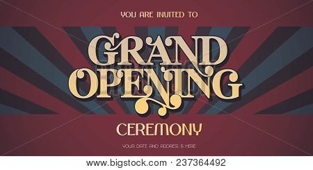 Vintage background vector photo free trial bigstock vintage background with grand opening sign banner vector illustration invitation card template fl stopboris Images