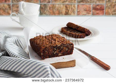 Vegan Banana Date Tea Cake Easy Baked Homemade.