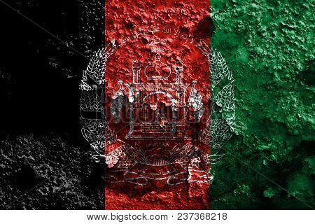 Old Afghanistan Grunge Background Flag, Grunge Flag