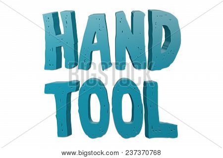 Hand Tool Text For Title Or Headline In 3d Style With Small Cuts On The Letters