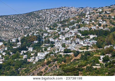 Makrinitsa village at Pelion of Greece near Volos city poster