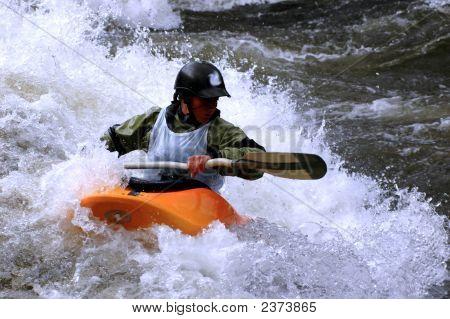 Female Kayak Competitor