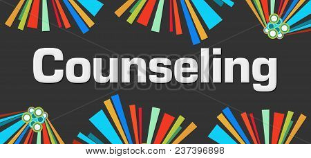 Counseling Text Written Over Dark Colorful Background.