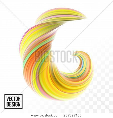 Orange Vector Digital Color Paint Abstract Background. Creative Vivid 3D Flow Fluid Paint Wave. Tren