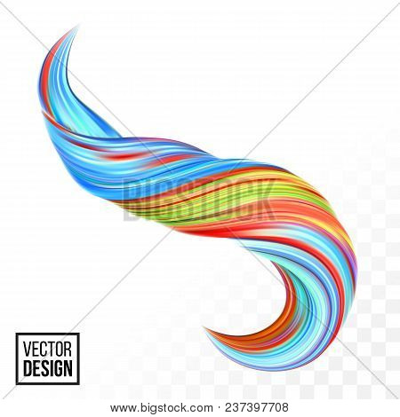 Abstract Vector Digital Color Paint Background. Creative Vivid 3D Flow Fluid Paint Wave. Trendy Yell