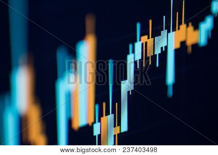 Business Candlestick Graph Chart Of Stock Market Investment Trading. Financial Chart With Up Trend L
