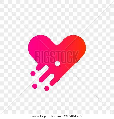 Heart Logo Vector Icon. Isolated Modern Heart Symbol For Cardiology Pharmacy And Medical Center. Val