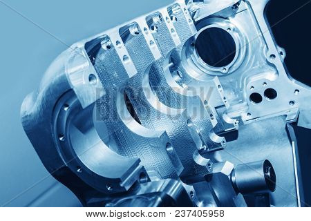 Aircraft Engine. Internal Components Of The Aircraft Engine. View Of The Dismantled Engine. Engine P