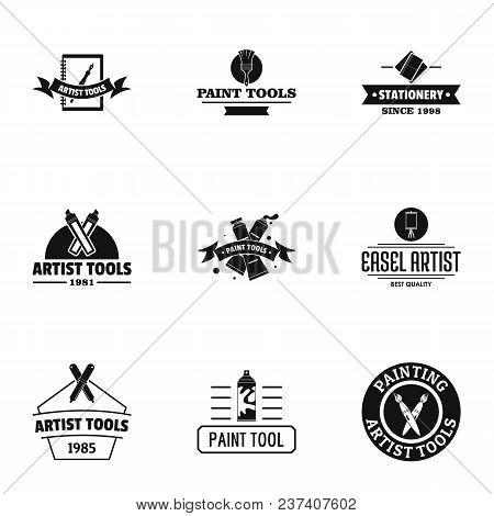 Artist Logo Set. Simple Set Of 9 Artist Vector Logo For Web Isolated On White Background