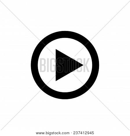 Play Button For Video Or Music Play Vector Icon