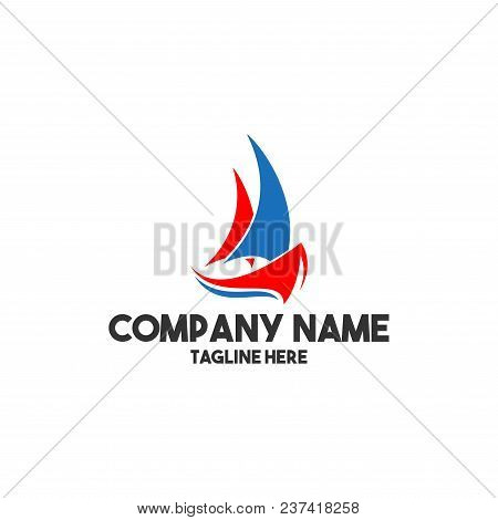 Abstract Ship Logo - Vector Modern Logo Template Concept Illustration. Ocean Ship Graphic. Marine Bo