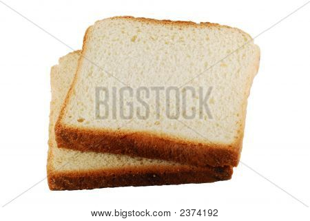 Two Slices Of Bread Isolated